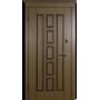 Входные двери Квадро дуб тёмный рустикаль патина Белорусский Стандарт
