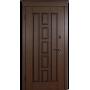 Входные двери Квадро темный орех патина Vinorit (улица) Белорусский Стандарт