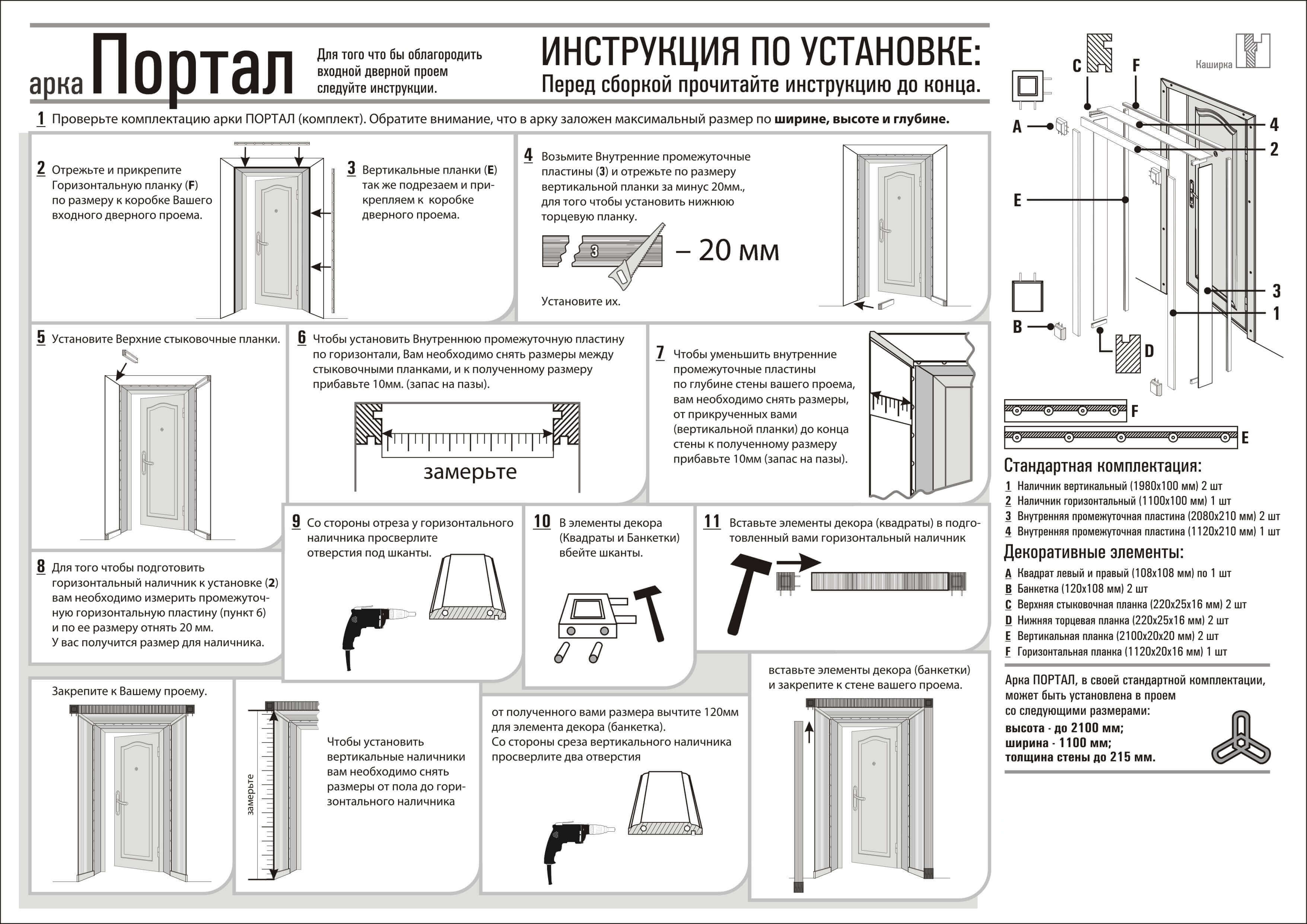 Инструкция по монтажу дверных откосов Портал